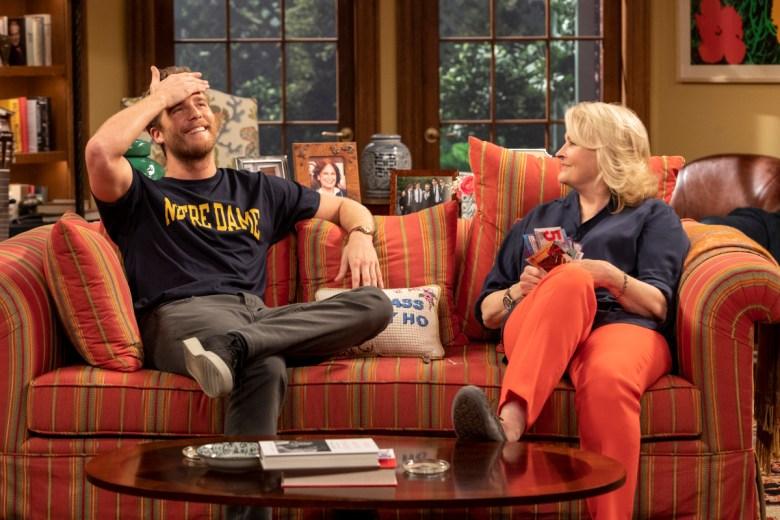 """Jake McDorman and Candice Bergen in """"Murphy Brown."""""""
