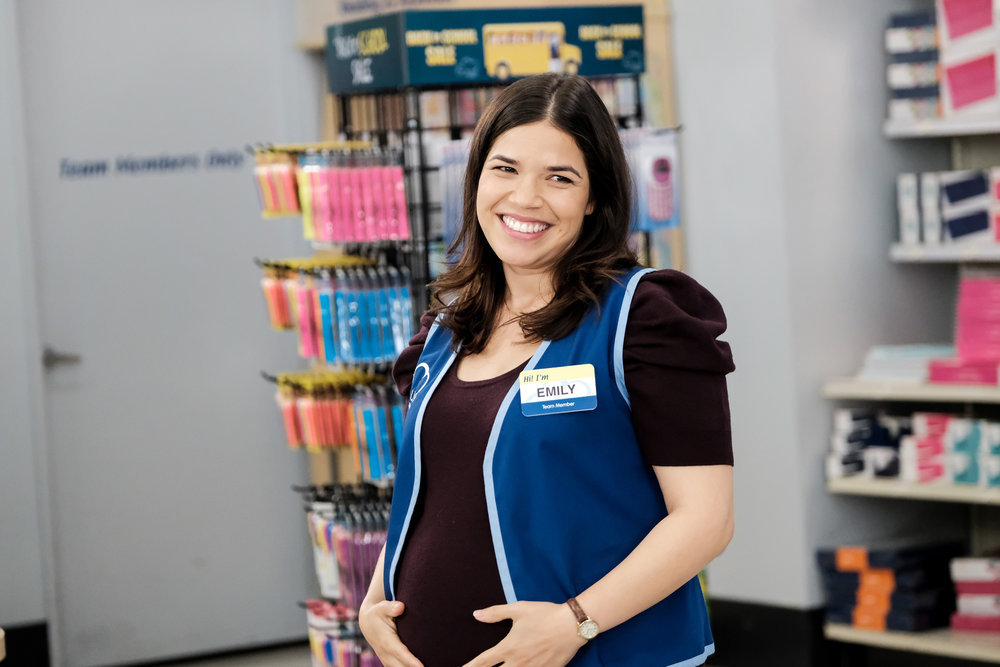 "SUPERSTORE -- ""Back to School"" Episode 401 -- Pictured: America Ferrera as Amy -- (Photo by: Eddy Chen/NBC)"
