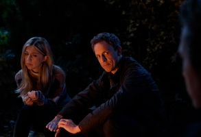 "SATURDAY NIGHT LIVE -- ""Seth Meyers"" Episode 1749 -- Pictured: (l-r) Heidi Gardner, Seth Meyers during ""Scary Story"" on Saturday, October 13, 2018 -- (Photo by: Ava Williams/NBC)"