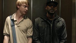 """Calum Worthy and Jackie Long in """"Bodied"""""""