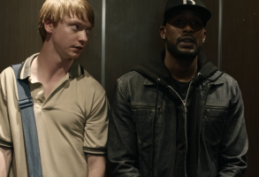 "Calum Worthy and Jackie Long in ""Bodied"""