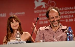 Dakota Johnson and Luca Guadagnino