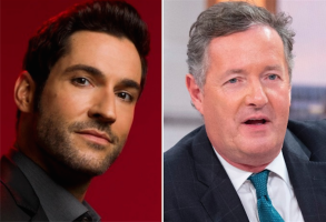 Tom Ellis and Piers Morgan
