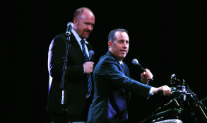 Jerry Seinfeld and Louis C.K. at the 10th Anniversary of Stand Up for Heroes.