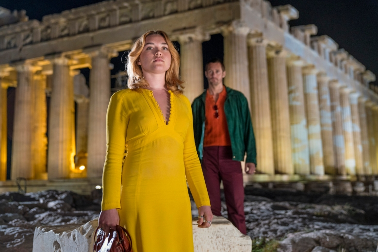 Florence Pugh as Charlie, Alexander Skarsgard as Becker - The Little Drummer Girl _ Season 1, Episode 1 - Photo Credit: Jonathan Olley/AMC/Ink Factory