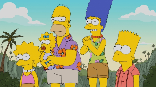 THE SIMPSONS: Homer wins an oyster-eating