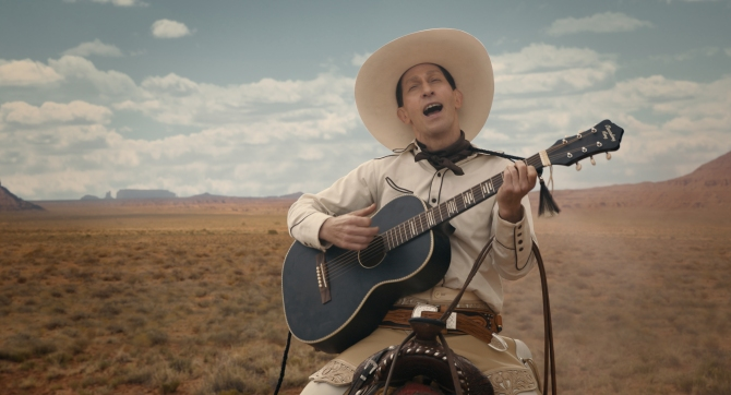 Tim Blake Nelson is Buster Scruggs