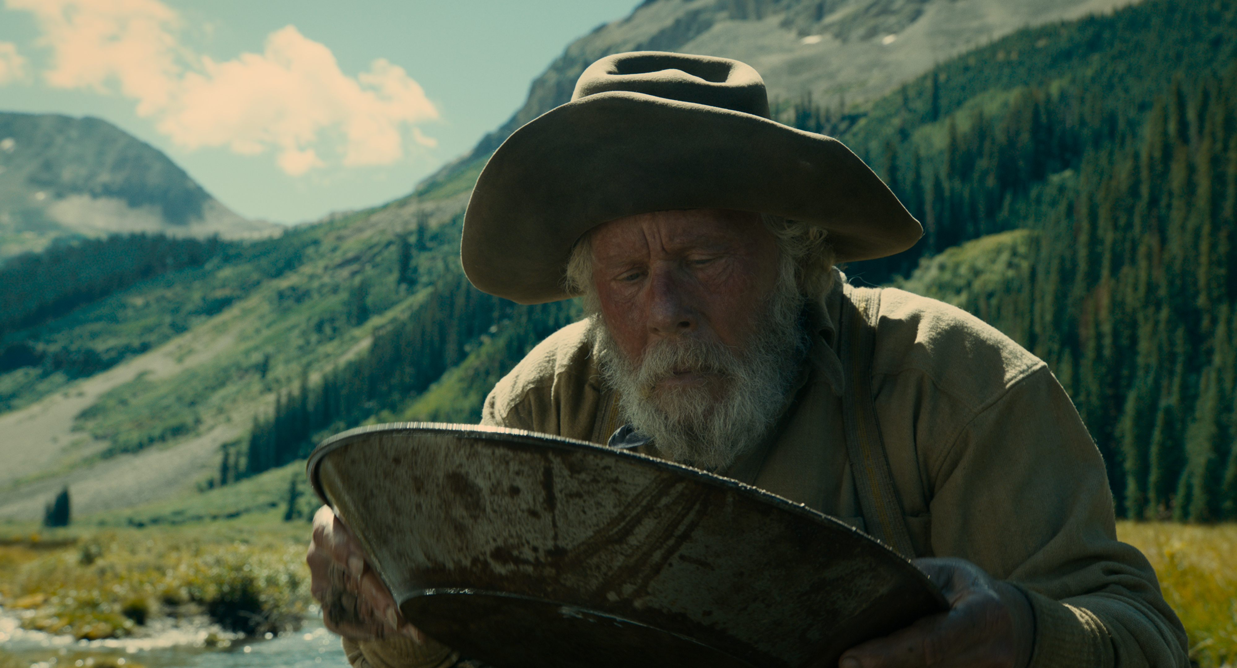 Tom Waits is Prospector in The Ballad of Buster Scruggs, a film by Joel and Ethan Coen.