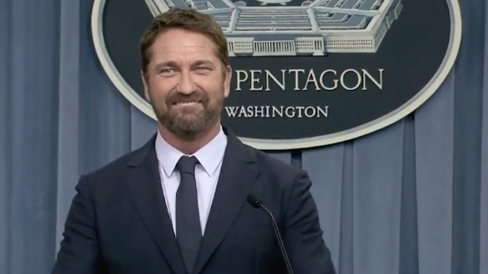'Hunter Killer': Gerard Butler Stumps for His Navy-Approved Submarine Thriller at Unexpected Pentagon Press Conference
