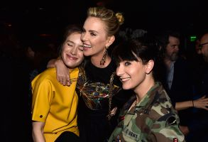 Mackenzie Davis, Charlize Theron and Diablo CodyTully' film premiere, After Party, Los Angeles, USA - 18 Apr 2018