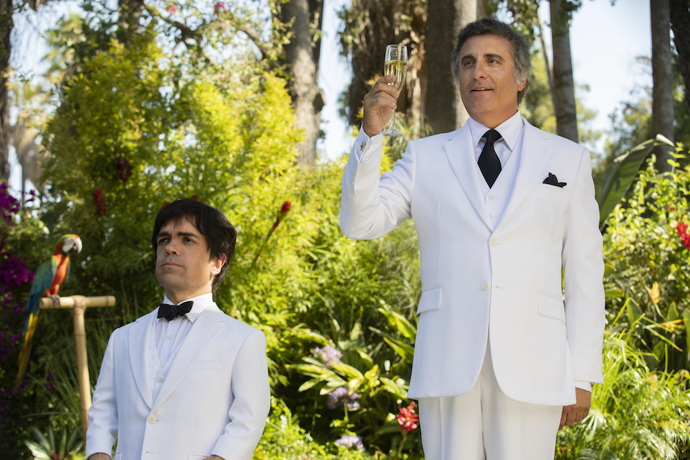 "Peter Dinklage and Andy Garcia in ""My Dinner with Herve"" HBO"