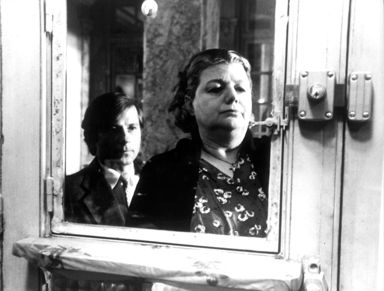 "Roman Polanski and Shelly Winters in ""The Tenant"""