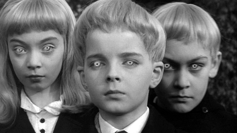 Editorial use only. No book cover usage.Mandatory Credit: Photo by MGM/Kobal/REX/Shutterstock (5880815a) June Cowell, Martin Stephens Village Of The Damned - 1960 Director: Wolf Rilla MGM BRITAIN Scene Still Le Village des damnés