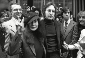 John Lennon, Yoko Ono John Lennon and his wife, Yoko Ono, leave a U.S. Immigration hearing in New York City. The argument over President Barack Obama's legal authority to defer deportations begins 42 years ago with a bit of hashish, a dogged lawyer and, yes, John Lennon and Yoko Ono. Lennon was facing deportation from a Nixon administration eager to disrupt the ex-Beatle's planned concert tour and voter registration drive. The case hinged on Lennon's 1968 conviction for possession of cannabis resin in London. Lennon ultimately succeeded. The case's legacy is an integral part of the legal foundation Obama relied on in 2012 to set up a program that has deferred the deportation of more than 580,000 immigrants who entered the country illegally as childrenObama Immigration Lennon, NEW YORK, USA