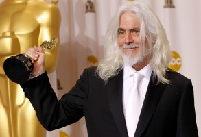 """Robert Richardson Robert Richardson poses with his award for best cinematography for """"Hugo"""" during the 84th Academy Awards, in the Hollywood section of Los Angeles84th Academy Awards Press Room, Los Angeles, USA"""