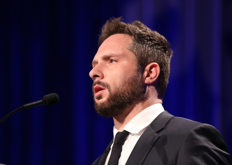 Nic Pizzolatto speaks at the PEN Center USA's 25th Annual Literacy Awards Festival at the Beverly Wilshire Hotel, in Beverly Hills, CalifPEN Center 's 25th Annual Literacy Awards Festival, Beverly Hills, USA