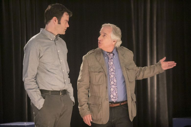 "Editorial use only. No book cover usage.Mandatory Credit: Photo by HBO/Kobal/REX/Shutterstock (9695990j) Bill Hader, Henry Winkler ""Barry"" (Seasdon 1) TV Series - 2018"