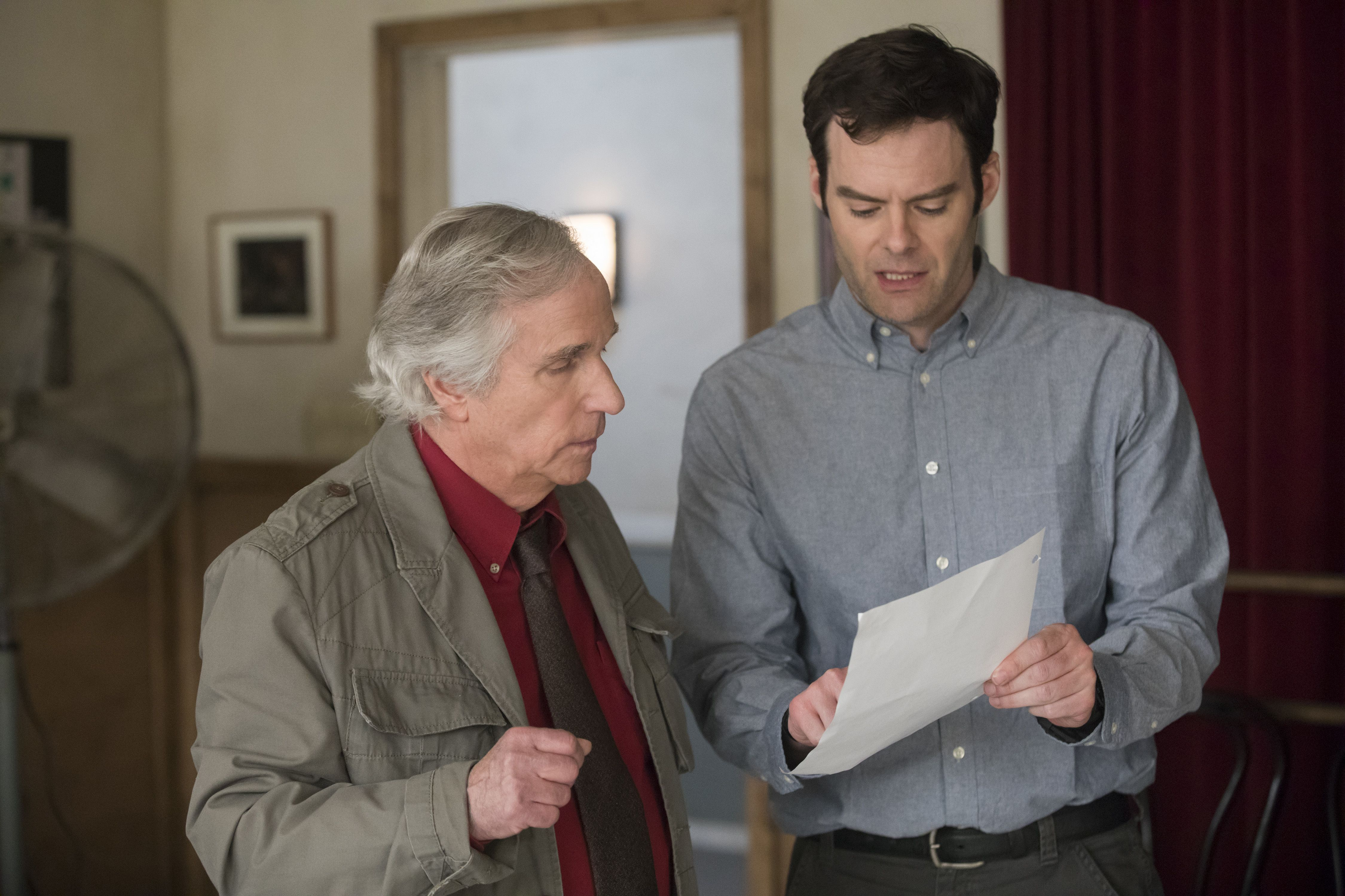 "Editorial use only. No book cover usage.Mandatory Credit: Photo by HBO/Kobal/REX/Shutterstock (9695990w)Henry Winkler, Bill Hader""Barry"" (Seasdon 1) TV Series - 2018"