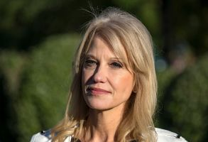 White House Senior Counselor Kellyanne Conway meets reporters on the driveway of the White House in Washington, DC.Kellyanne Conway press conference, Washington DC, USA - 24 Oct 2018