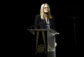 Emma Watts, 20th Century Fox President of Production, speaks at 20th Century Fox 2017 CinemaCon Presentation, in Las Vegas20th Century Fox 2017 CinemaCon Presentation, Las Vegas, USA - 30 Mar 2017