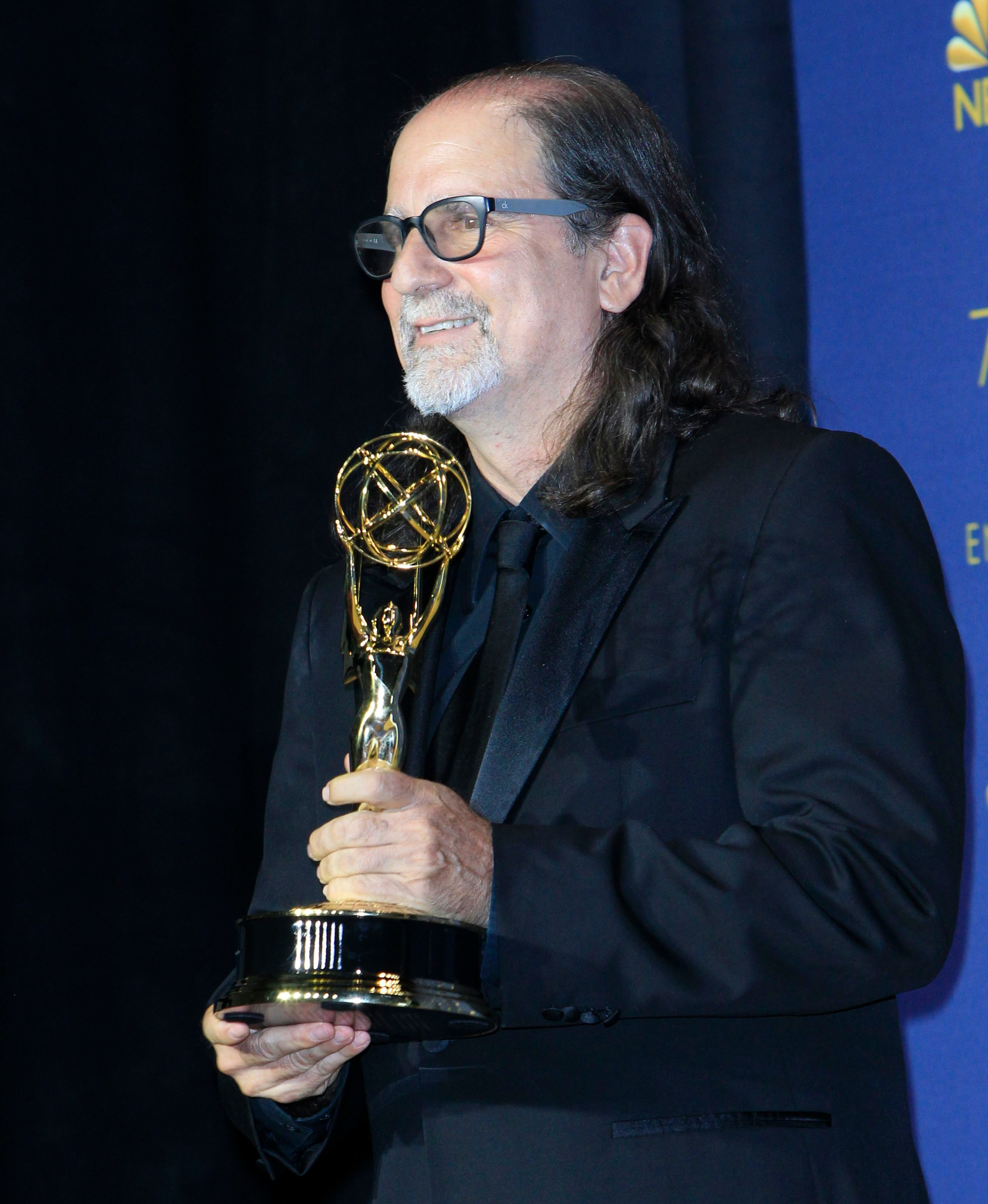 Glenn Weiss holds the Emmy Award for Outstanding Directing for a Variety Special at the 70th annual Primetime Emmy Awards ceremony held at the Microsoft Theater in Los Angeles, California, USA, 17 September 2018. The Primetime Emmys celebrate excellence in national prime-time television programming.Photo Room - 70th Primetime Emmy Awards, Los Angeles, USA - 17 Sep 2018