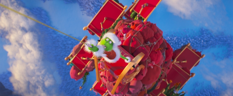 "The Grinch (Benedict Cumberbatch) discovers the perils of stealing Christmas in ""Dr. Seuss' The Grinch"" from Illumination."