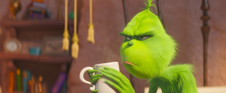 "Benedict Cumberbatch voices the Grinch in ""Dr. Seuss' The Grinch"" from Illumination."