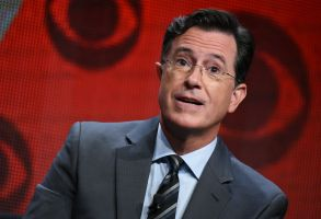 "Stephen Colbert participates in ""The Late Show with Stephen Colbert"" segment of the CBS Summer TCA Tour in Beverly Hills, Calif. Vice President Joe Biden will be among Colbert's first guests on ""The Late Show."" CBS announced, that Biden will join previously announced guests Uber CEO Travis Kalanick and country singer Toby Keith on Sept. 10TV-Stephen Colbert-Joe Biden, Beverly Hills, USA"