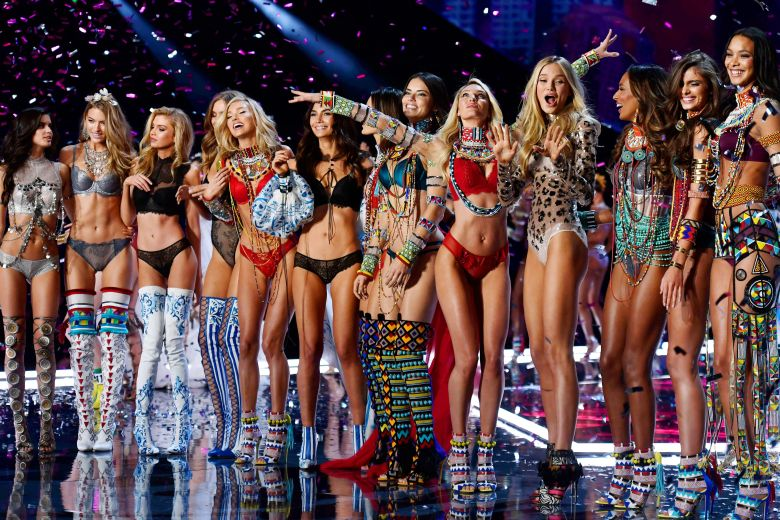 Sara Sampaio, Martha Hunt, Elsa Hosk, Lily Aldridge, Alessandra Ambrosio, Adriana Lima, Candice Swanepoel, Romee Strijd, Jasmine Tookes and Taylor Hill on the catwalkVictoria's Secret Fashion Show, Runway, Shanghai, China - 20 Nov 2017