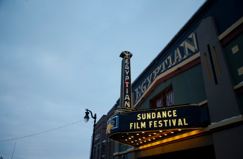 The Egyptian Theatre on Main Street during the 2018 Sundance Film Festival, in Park City, Utah2018 Sundance Film Festival - Day 5, Park City, USA - 22 Jan 2018