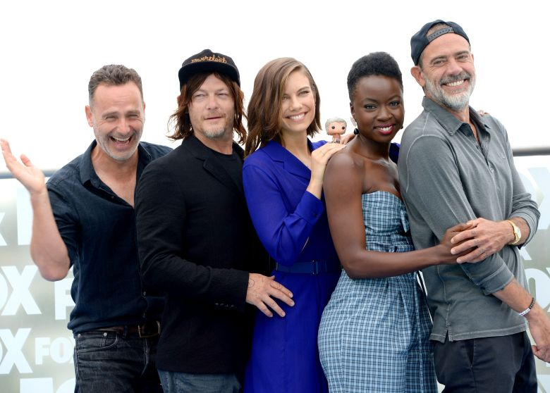 Andrew Lincoln, Norman Reedus, Lauren Cohan, Danai Gurira and Jeffrey Dean Morgan'The Walking Dead' TV show photocall, Comic-Con International, San Diego, USA - 20 Jul 2018 2018 Comic-Con International: San Diego Day2- FOX International?s THE WALKING DEAD photocall