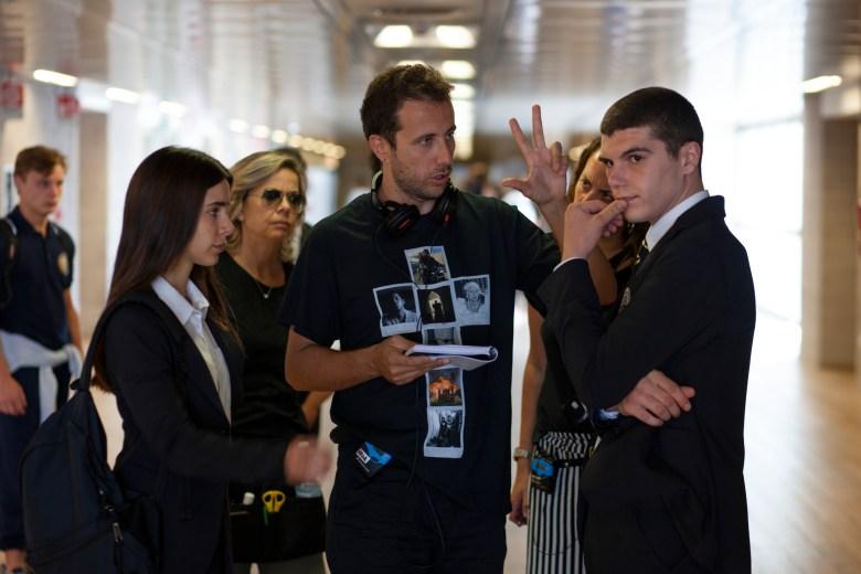 "Chabeli S. Gonzalez, director Andrea De Sica, and Ricardo Mandolini, ""Baby"""