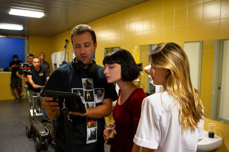 "Director Andrea De Sica with Alice Pagani and Benedetta Porcaroli, ""Baby"""