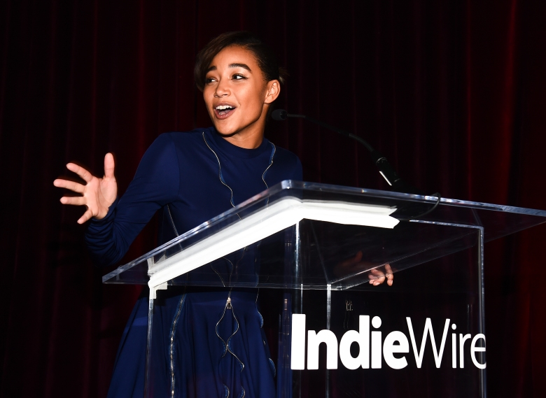 Amandla Stenberg at the IndieWire Honors 2018 at No Name on November 1, 2018 in Los Angeles.