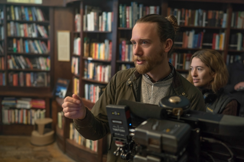 "Cinematographer Brandon Trost and Director Marielle Heller on the set of ""Can You Ever Forgive Me?"""