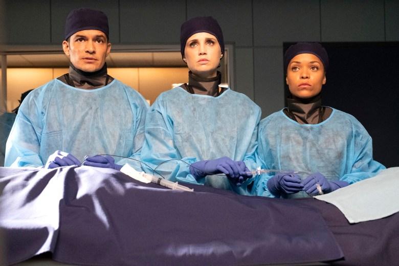 "Nicholas Gonzalez, Fiona Gubelmann, and Antonia Thomas, ""The Good Doctor"""