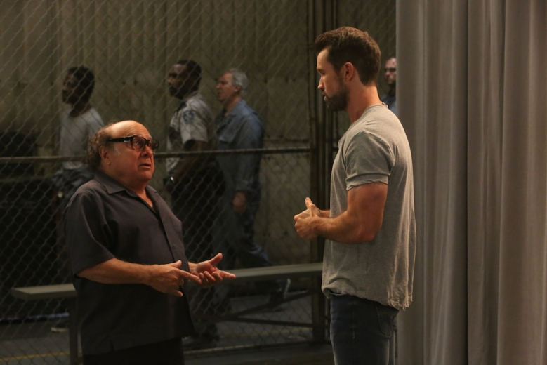 """IT'S ALWAYS SUNNY IN PHILADELPHIA -- """"Mac Finds His Pride"""" – Season 13, Episode 10 (Airs November 7, 10:00 pm e/p) Pictured: (l-r) Danny DeVito as Frank, Rob McElhenney as Mac. CR: Patrick McElhenney/FXX"""