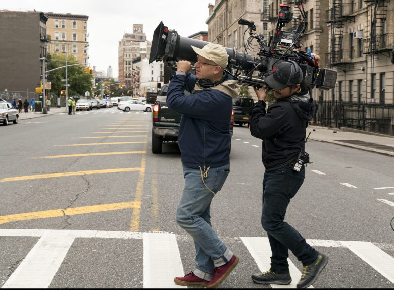 Cinematographer James Laxton on the set of IF BEALE STREET COULD TALK, an Annapurna Pictures release.