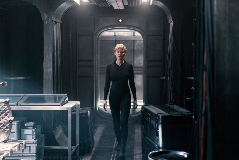 "NIGHTFLYERS -- ""All That We Left Behind"" Episode 101-- Pictured: Gretchen Mol as Agatha -- (Photo by: Jonathan Hession/Syfy)"