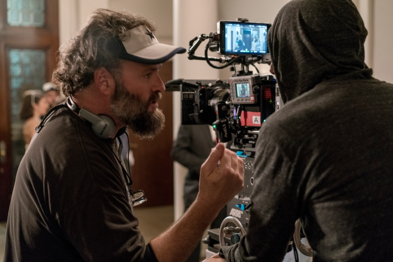 Cinematographer Michael Grady on the set of ON THE BASIS OF SEX, a Focus Features release.