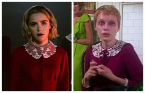 """Kiernan Shipka in """"Chilling Adventures of Sabrina"""" and Mia Farrow in """"Rosemary's Baby"""""""