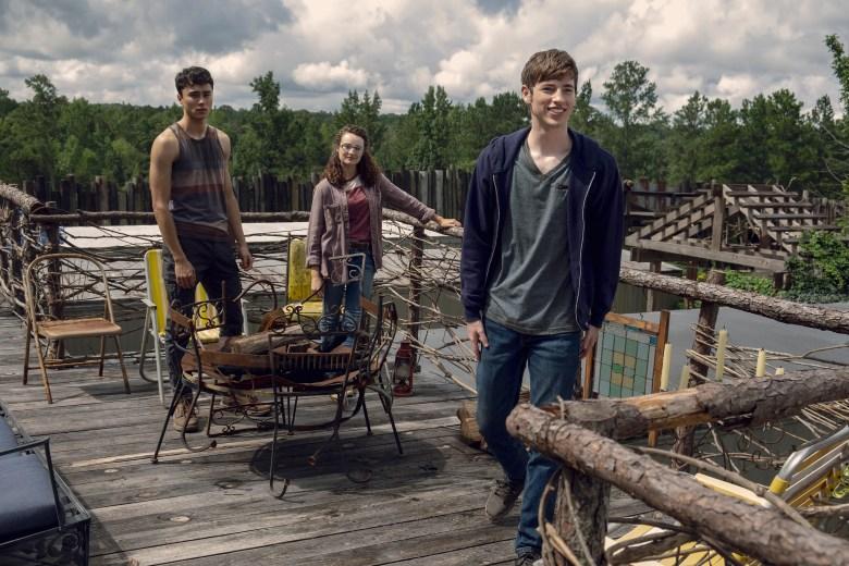 Joe Ando-Hirsh as Rodney, Kelley Mack as Addy, Jackson Pace as Gage- The Walking Dead _ Season 9, Episode 8 - Photo Credit: Gene Page/AMC