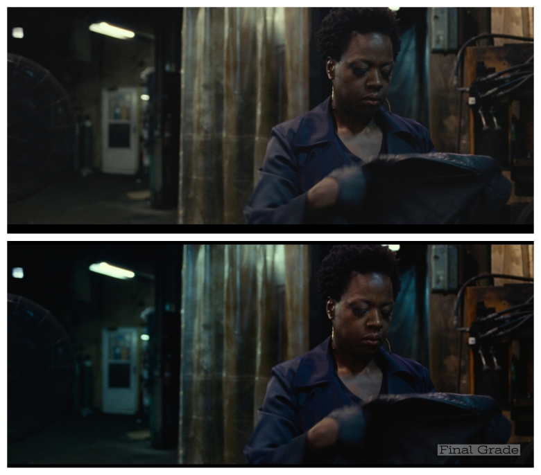 """Widows"": Before and after the final color grade"
