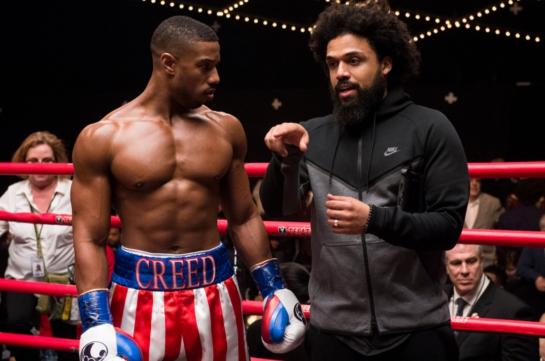 Michael B. Jordan and director Steven Caple Jr. on the set of CREED II, a Metro Goldwyn Mayer Pictures film.Credit: Barry Wetcher / Metro Goldwyn Mayer Pictures© 2018 Metro-Goldwyn-Mayer Pictures Inc. All Rights Reserved.