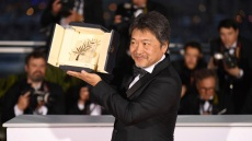 Director Hirokazu Kore-eda holds the Palme d'Or for the film 'Shoplifters' following the awards ceremony at the 71st international film festival, Cannes, southern France2018 Awards Photo Call, Cannes, France - 19 May 2018