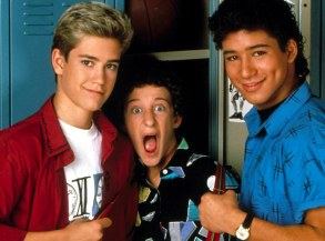 Editorial use only. No book cover usage.Mandatory Credit: Photo by Moviestore/REX/Shutterstock (1623055a)Saved By The Bell: Hawaiian Style , Mark Paul Gosselaar, Dustin Diamond, Mario LopezFilm and Television
