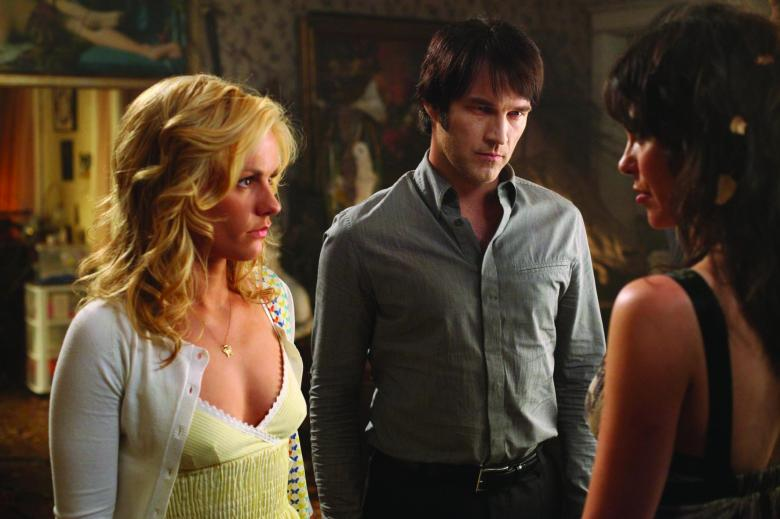 Editorial use only. No book cover usage.Mandatory Credit: Photo by Snap Stills/REX/Shutterstock (2209528an) Forbes, Michelle as Maryann Forrester Moyer, Stephen as Bill Compton Paquin, Anna as Sookie Stackhouse True Blood - 2008