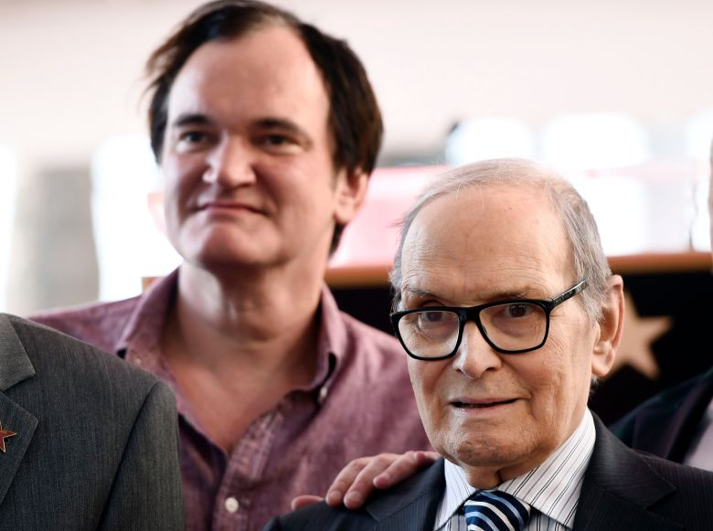 "Italian composer Ennio Morricone, right, poses alongside director Quentin Tarantino after receiving a star on the Hollywood Walk of Fame, in Los Angeles. Morricone is nominated for an Academy Award for Best Original Score in Sunday's Oscars ceremony for Tarantino's film ""The Hateful EightEnnio Morricone Honored With a Star on the Hollywood Walk of Fame, Los Angeles, USA - 26 Feb 2016"