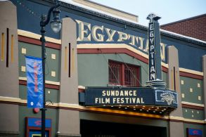 The marquee of The Egyptian Theatre on Main Street during the Sundance Film Festival, in Park City, Utah2018 Sundance Film Festival - Egyptian Theatre, Park City, USA - 22 Jan 2018