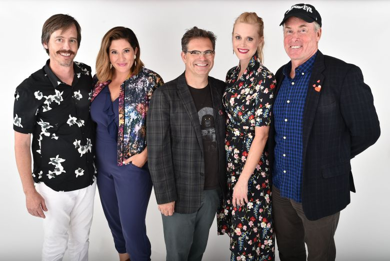 Exclusive - All RoundMandatory Credit: Photo by Andrew H. Walker/Variety/REX/Shutterstock (9765796lb)Nate Mooney, Deborah Baker Jr.., Dana Gould, Janet Varney and John C. McGinley - 'Stan Against Evil'Exclusive - Variety Portrait Studio Comic-Con, Day 3, San Diego, USA - 21 Jul 2018
